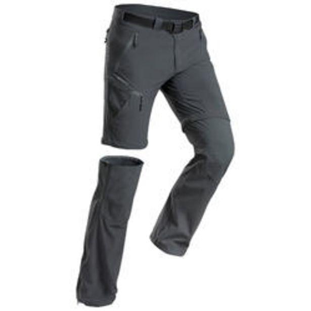 Oferta de Pantalones de Montaña y Trekking de Hombre Desmontables Quechua MH550 Gris por 29,99€