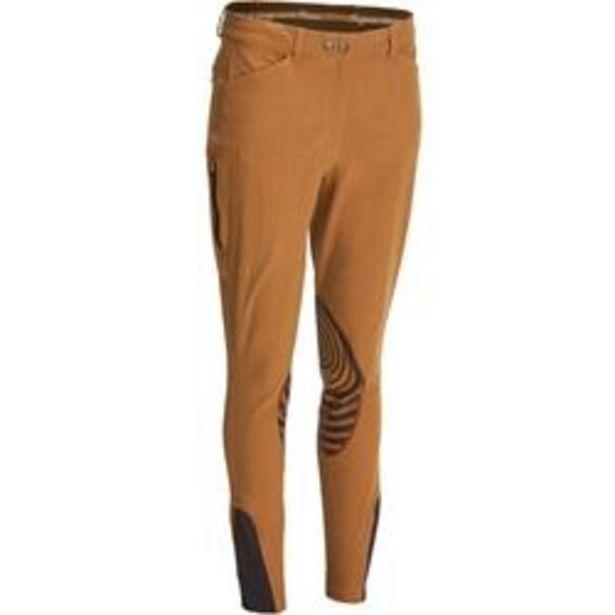 Oferta de Pantalón Equitación Fouganza 560 Grip Mujer Camel Badanas de Silicona por 32,99€