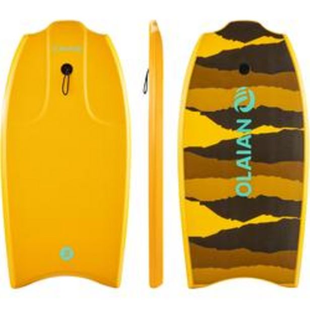 "Oferta de Tabla Bodyboard Olaian 100 Naranja 1,45 m - 1,65 m 38"" por 19,99€"