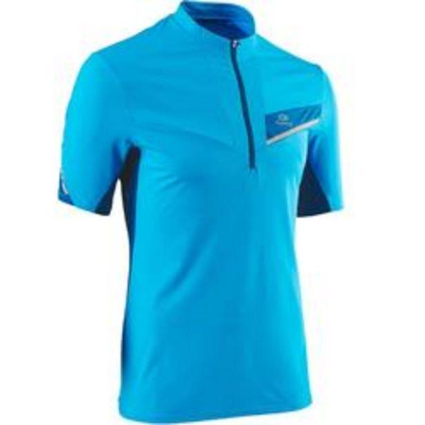 Oferta de Camiseta Manga Corta Trail Running Kalenji Hombre Azul Turquesa por 8,99€