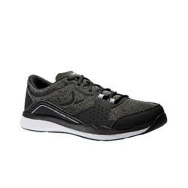 Oferta de Zapatillas de fitness cardio 500 para hombre negro y gris por 22,99€