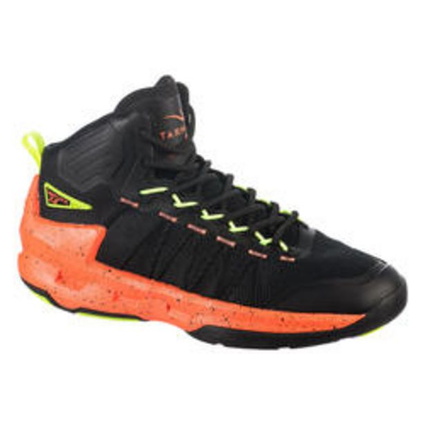 Oferta de Zapatillas Baloncesto Tarmak Shield 500 Negro Coral Amarillo por 39,99€