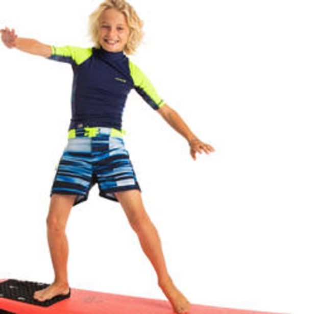 Oferta de Bañador Niño Surf Corto Olaian 500 Azul Amarillo por 9,99€