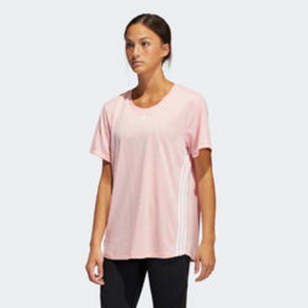 Oferta de Camiseta manga corta Adidas mujer rosa coral por 29,99€