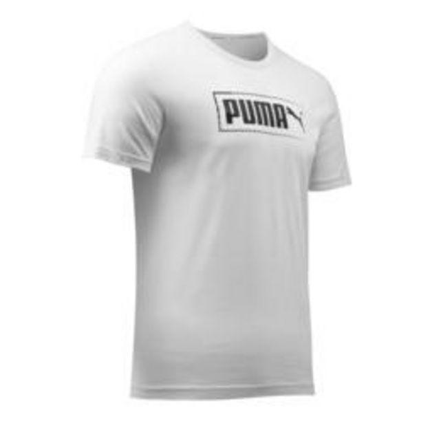 Oferta de Camiseta Puma hombre gris con logotipo blanco por 7,99€