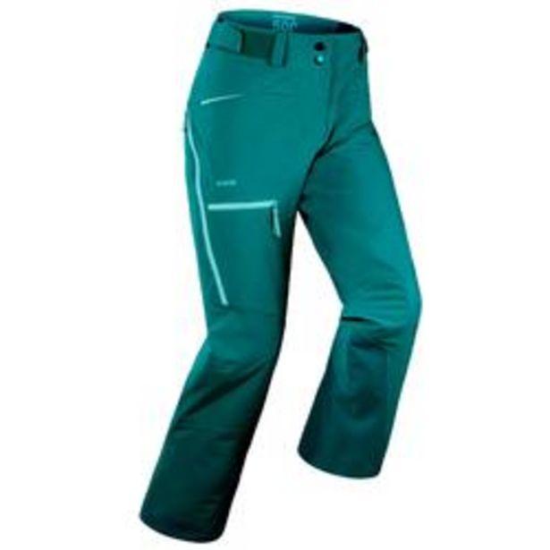 Oferta de Pantalón de esquí Freeride Mujer FR500 Verde por 44,99€