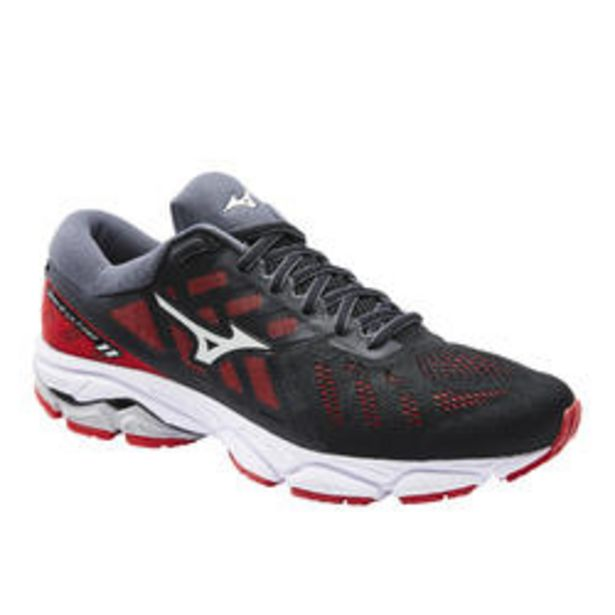 Oferta de Zapatillas Running Mizuno Wave Ultima 11 Hombre Negro Rojo por 89,99€