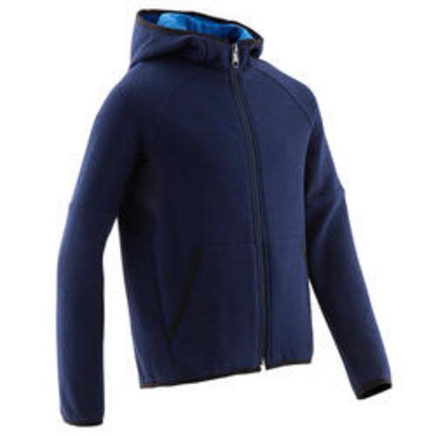 Oferta de Chaqueta capucha forro cálido algodón transp. 500 niño GIMNASIA INFANTIL azul por 16,99€
