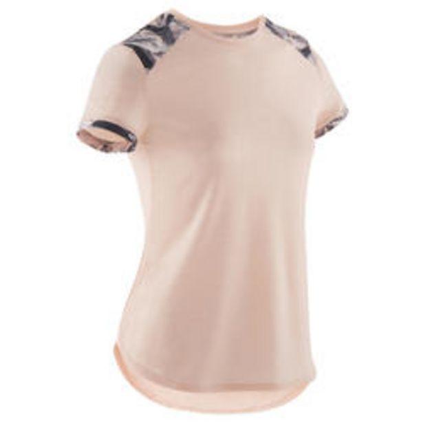 Oferta de Camiseta manga corta transp 500 niña GYM INFANTIL rosa claro estampado hombro por 5,99€