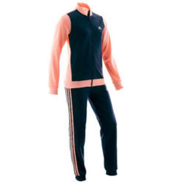 Oferta de Chándal niño niña Adidas gimnasia deportiva rosa negro por 24,99€