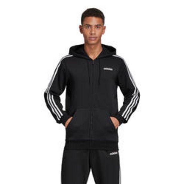Oferta de Sudadera Adidas 3S 500 hombre con capucha negro blanco por 45,99€