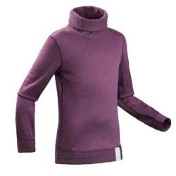 Oferta de Camiseta Térmica de Esquí y Nieve Interior Niños Wedze 2Warm Reversible Violeta por 4,99€