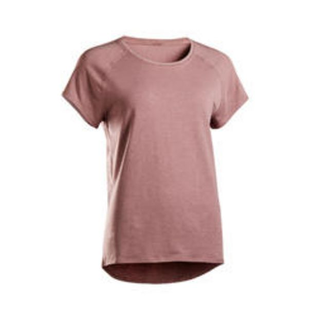Oferta de Camiseta Manga Corta Yoga Mujer ecodiseñada ciruela por 7,99€