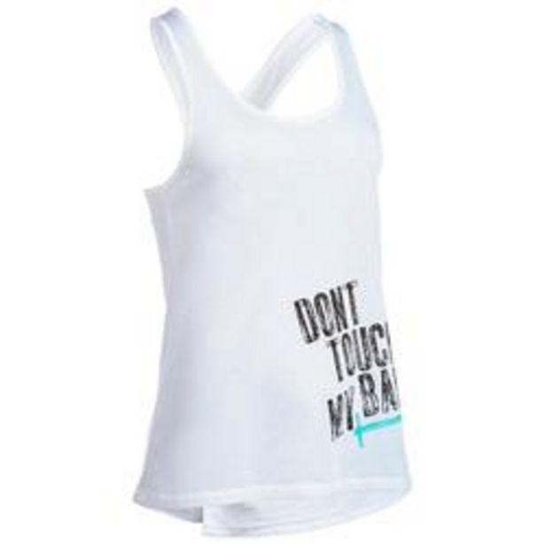 Oferta de Camiseta sin mangas Crosstraining musculación mujer blanco por 7,99€