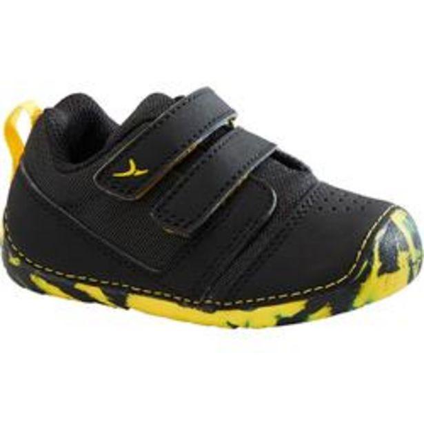 Oferta de Zapatillas Bebé primeros pasos Domyos 510 I Learn Breath negro tallas 20 al 24 por 12,99€