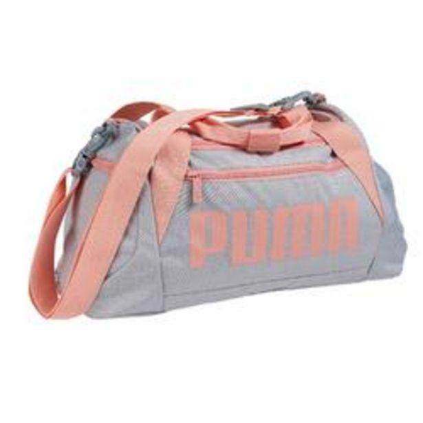 Oferta de Bolsa de deporte gimnasio Cardio Fitness Puma Duffle 30 Litros gris rosa por 16,99€