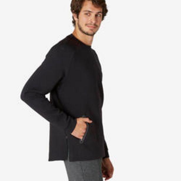 Oferta de Sudadera Fitness bolsillo cremallera negro por 15,99€