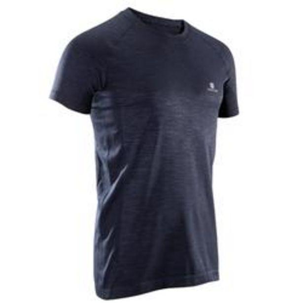 Oferta de Camiseta de fitness cardio hombre FTS900 gris oscuro por 11,99€