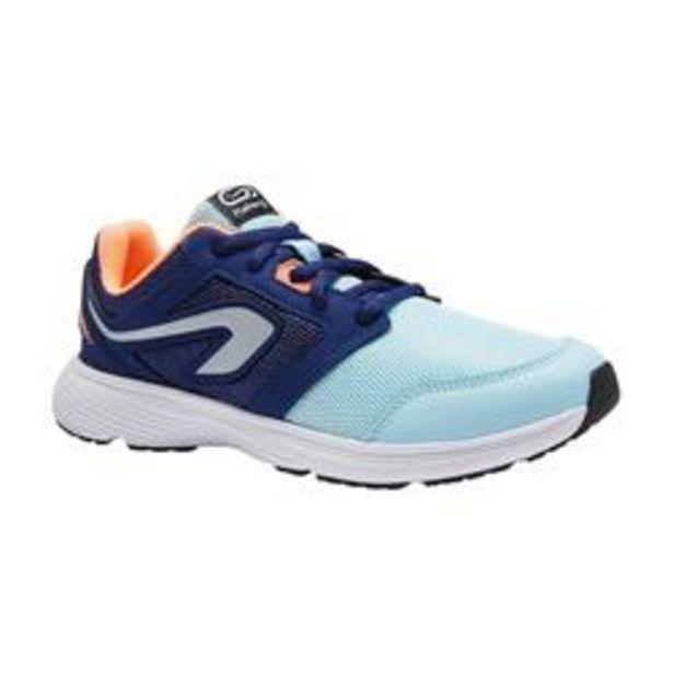 Oferta de Zapatillas Atletismo Running Kalenji Run Support Cordones Niños Azules y Coral por 12,99€