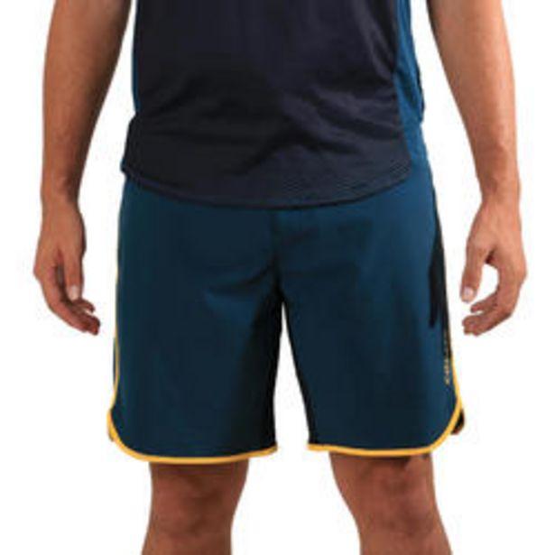 Oferta de Pantalón Corto de Vóley Playa BVSH500 hombre verde y amarillo por 12,99€