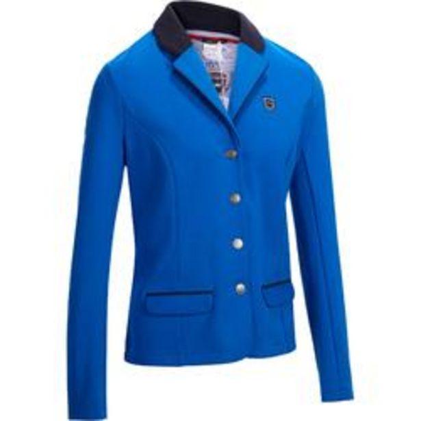 Oferta de Chaqueta Concurso Equitación Fouganza 100 Mujer Azul Royal Competición por 24,99€