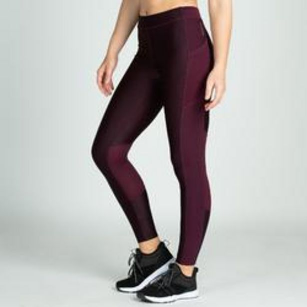 Oferta de Mallas Leggins Fitness Mujer Domyos FTI 120 Morado por 12,99€