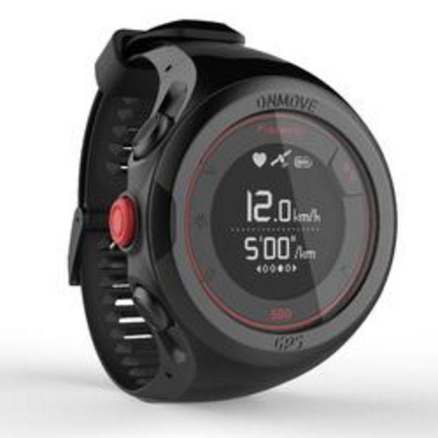 Oferta de Reloj de running GPS y pulsómetro en muñeca ONmove 500 negro por 64,99€