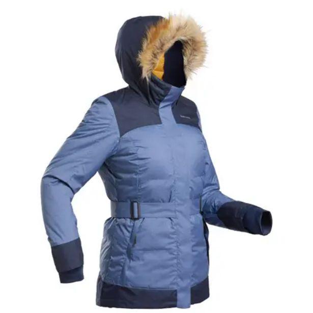 Oferta de Parka light invierno impermeable senderismo -SH500 X-WARM - Mujer por 59,99€