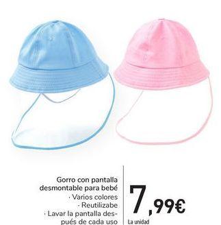 Oferta de Gorro con pantalla desmontable para bebé por 7,99€