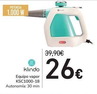 Oferta de Equipo vapor KSC1000-18 Klindo por 26€