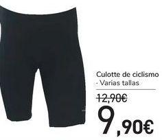 Oferta de Culotte de ciclismo por 9,9€