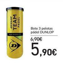 Oferta de Bote 3 pelotas pádel DUNLOP por 5,9€