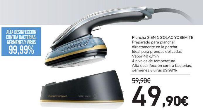 Oferta de Plancha 2 en 1 SOLAC YOSEMITE por 49,9€