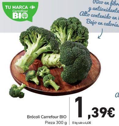 Oferta de Brócoli Carrefour BIO por 1,39€