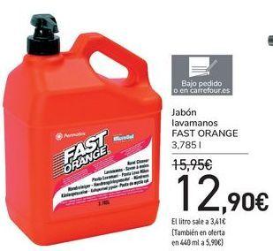 Oferta de Jabón lavamanos FAST ORANGE por 12,9€