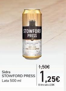 Oferta de Sidra STOWFORD PRESS por 1,25€