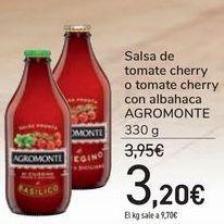 Oferta de Salsa de tomate cherry o tomate cherry con albahaca AGROMONTE por 3,2€