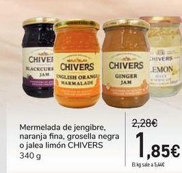 Oferta de Mermelada de jengibre, naranja fina, grosella negra o jalea limón CHIVERS por 1,85€