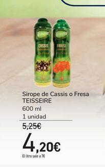 Oferta de Sirope de Cassis o Fresa TEISSEIRE por 4,2€