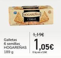 Oferta de Galletas 6 semillas HOGAREÑAS por 1,05€