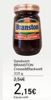 Oferta de Sandwich BRANSTON Crosse&Blackwell por 2,15€