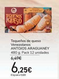 Oferta de Tequeños de queso Venezolanos ANTOJOS ARAGUANEY por 6,25€