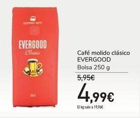 Oferta de Café molido clásico EVERGOOD por 4,99€
