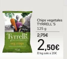 Oferta de Chips vegetales TYRRELL'S por 2,5€