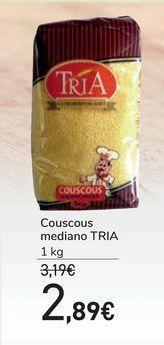 Oferta de Couscous mediano TRIA por 2,89€