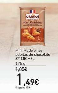 Oferta de Mini Madeleines pepitas de chocolate ST MICHEL por 1,49€