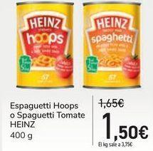 Oferta de Espaguetti Hoops o Spaguetti Tomate por 1,5€