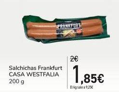 Oferta de Salchichas Frankfurt CASA WESTFALIA por 1,85€