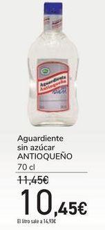 Oferta de Aguardiente sin azúcar ANTIOQUEÑO por 10,45€