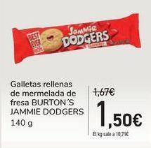 Oferta de Galletas rellenas de mermelada de fresa BURTON'S JAMMIE DODGERS por 1,5€